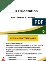 Class Orientation 2013