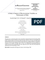 A Study of Impact of Macroeconomic Variables on Performance of Nifty