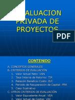 Evaluacion Privada de Proyectos