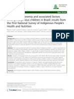 Prevalence of anemia and associated factors among indigenous children in Brazil