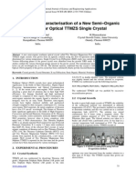 Growth and Characterisation of a New Semi–Organic