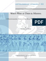 Who's Who at Deir El-medina. a Prosopgraphic Study of the Royal Workmen's Community