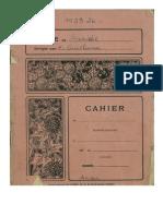 Cahier Scolaire - Ecole de Saucède -  Année 1923