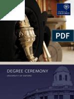 Degree Ceremony Brochure