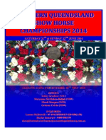 2014 Northern Queensland Show Horse Championships – Program