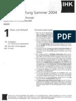 Einzelhandel AKA AP Sommer 2004 (Alte Verordnung)