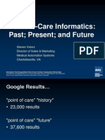 Point of Care Informatics Past Present and Future 100804 Final