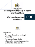 2014 Introduction to Working in Partnership