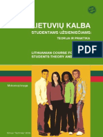 Lithuanian Course for Foreign Students