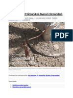An Overview of Grounding System