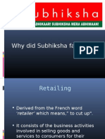 why did subhiksha failed