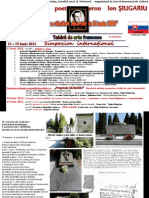 CENTENAR poet-erou Ion SOREANU-SIUGARIU (13-15 iunie 2014) - AGENDA Subiecte Dezbateri Invitati