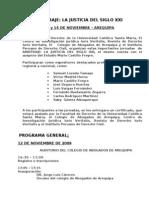 PRIMERAS JORNADAS ARBITRAJE