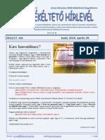 Békéltető Hírlevél 2014/17. hét