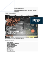 Electrical Thumb Rules - 1