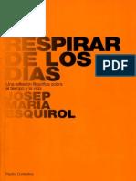 Esquirol Josep Maria - El Respirar de Los Dias
