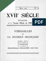 Versailles Et La Musique Francaise