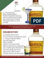Barsol Pisco Tear Off Shelf Talker