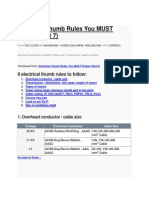 Electrical Thumb Rules - 7
