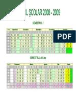 Calendar Scolar 2008 2009