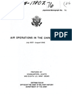 Air Operations in the China Area July 1937 August 1945