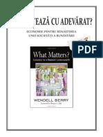 20. Wendell Berry - Ce conteaza cu adevarat. Economie pentru renasterea unei societati a bunastarii - TEI