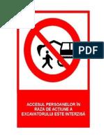 Pictograma-Acces Interzis Santier