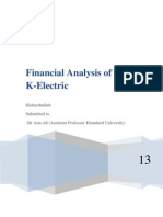 Financial Analysis K-Electric