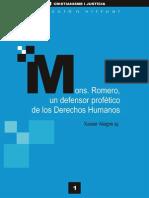 Alegre, Xavier - Mons.romero, Defensor Profético de Los DDHH