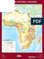 ISDR Map African Natural Hazards