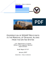 DOJ OIG - Cooperation of SCAAP Recipients in the Removal of Criminal Aliens from the United States (1/07)