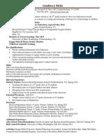 teaching resume revised
