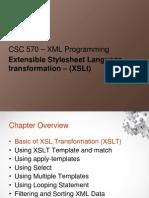Chapter 5 - XSLT