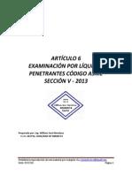 Código Asme Sección v Articulo 6 - 2013