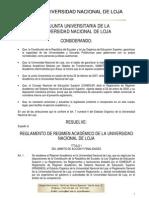 Reglamento de Regimen Academico Unl.
