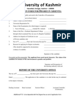 Degree Form