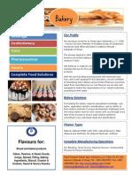 Bakery Flavour Segments