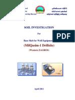 MilQasim-1,Soil Investigation Report