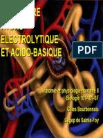 Equilibre Acido Basique Et Hydro Electrique