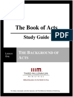 The Book of Acts - Lesson 1 - Study Guide