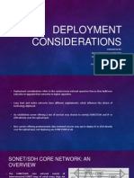 Deployment Considerations in optical networks