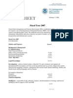 ICE Fact Sheet - FY2007 Budget (2/5/06)