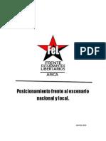 Posicionamiento Frente Escenario Nacional y Local