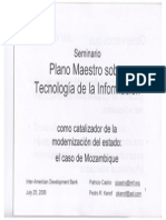Master Plan on the information technology as a catalyst for the modernization of the state