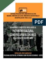 Patrimonio Cultural Como Recurso Económico