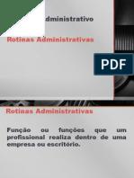 Rotinas Administrativas