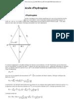 Calcul de la molécule d'hydrogène