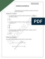 Examen Final de Matemática