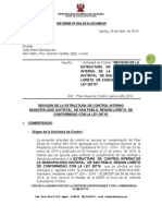 informe N° 004 inf.Estructura CI MDSP