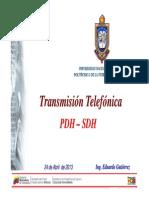 Tema+5+-+Transmisión+Telefónica+PDH+y+SDH